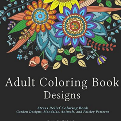 Adult Coloring Book Designs: Stress Relief Colorin