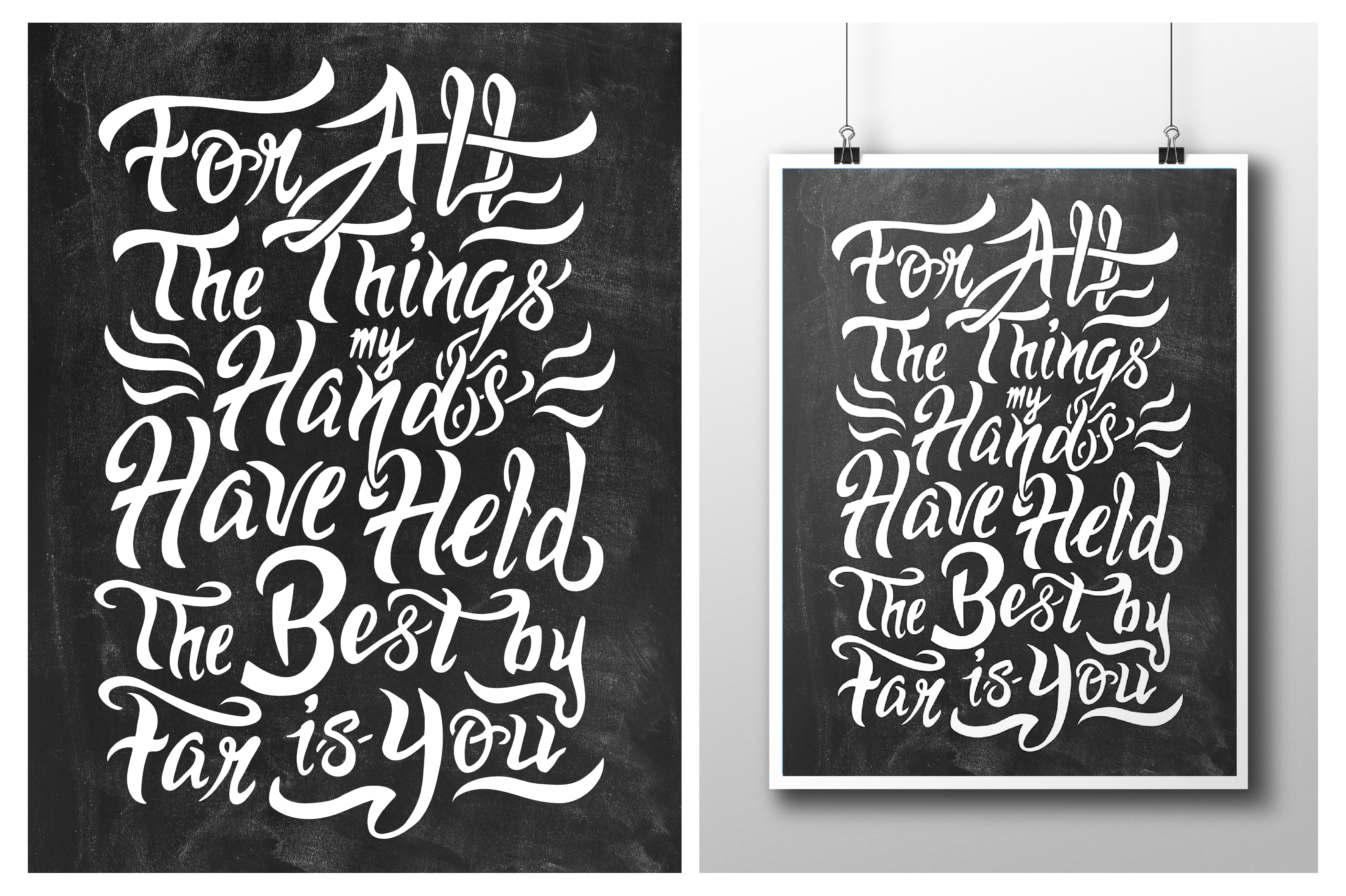Hand Lettered Poster Design