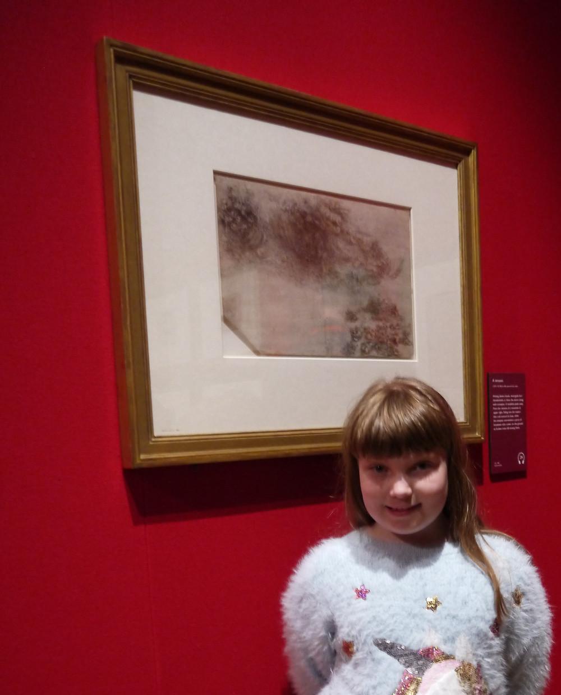 Leonardo exhibition item with child