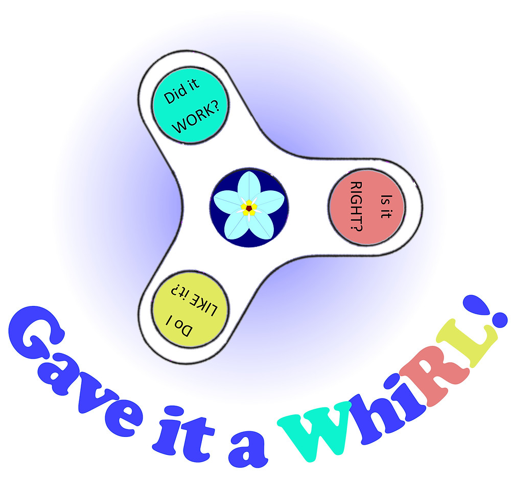 image of fidget-spinner with three questions