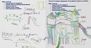 Hand-drawn playground designs