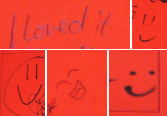 smileys and positive comments