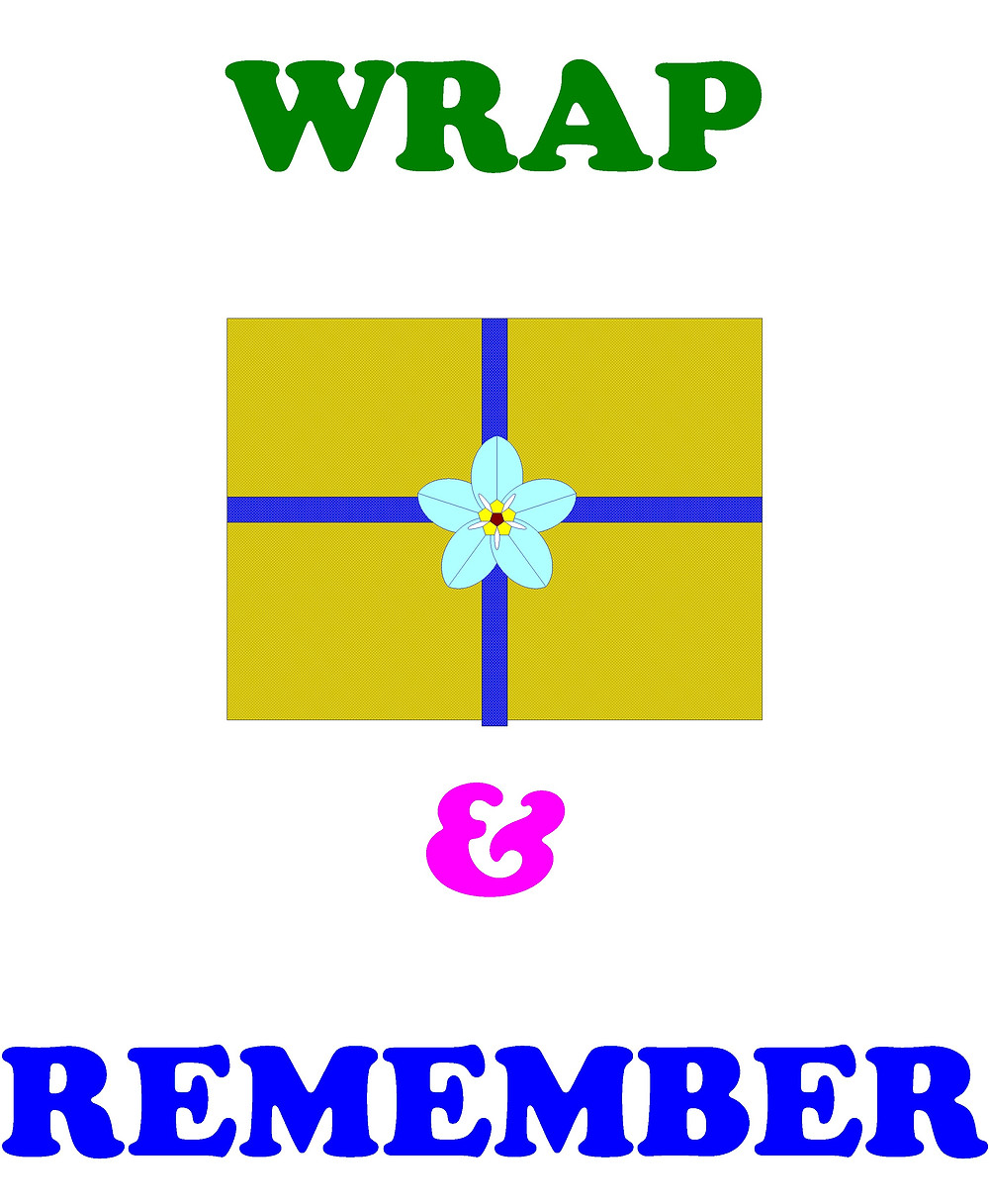 Graphic representing the Wrap and Remember Forget-Me-Not