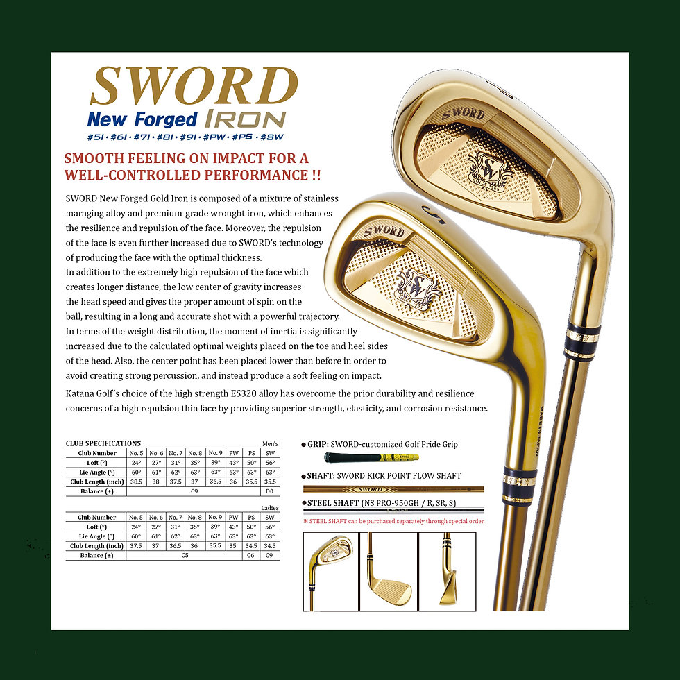 23. SWORD catalog SWORD NEW FORGED GOLD
