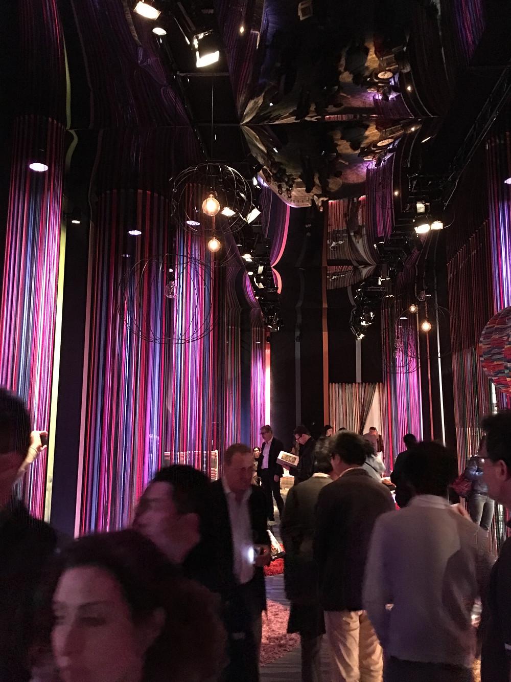 Exposición de Missoni textiles casa