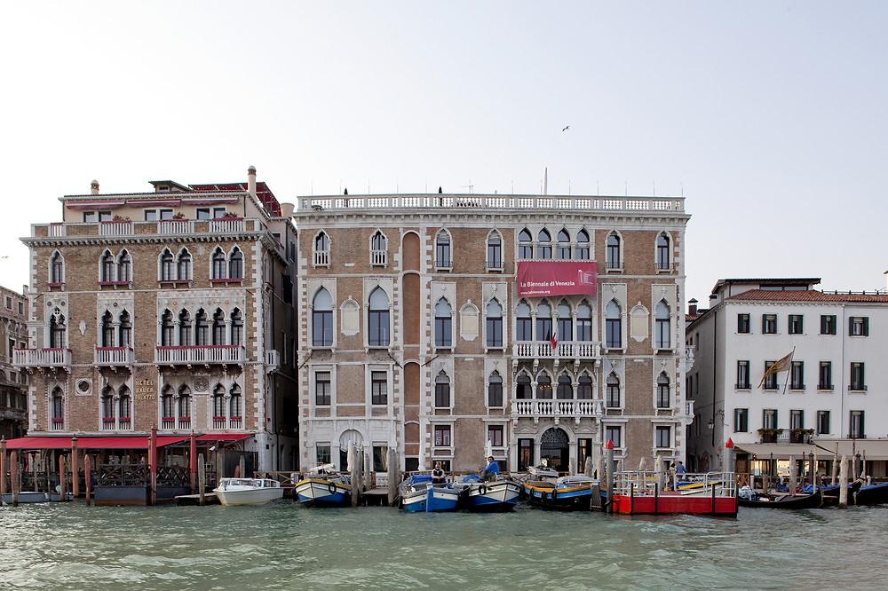 Sede de la Bienal donde se realizan las entregas de premios - Palacio Ca' Giustinian.