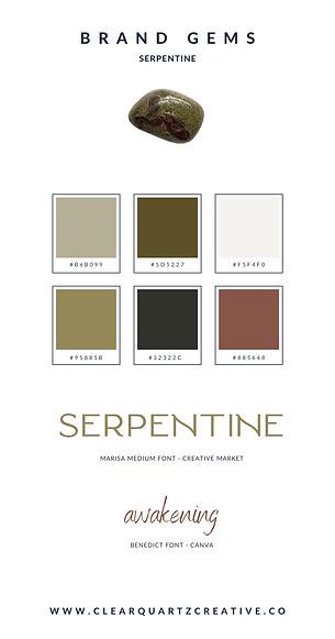 Serpentine Brand Gems | Clear Quartz Cre