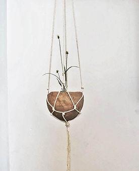 bisque handmade hanging planter.jpg
