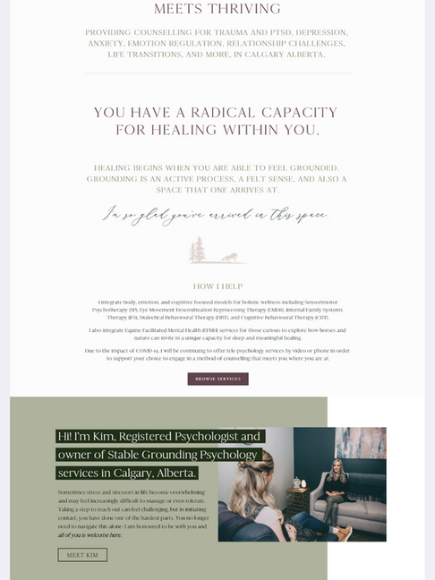 Stable Grounding Squarespace Website