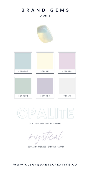 Opalite Brand Gems | Clear Quartz Creati