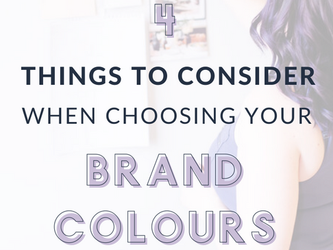 4 Considerations When Choosing Your Brand Colours