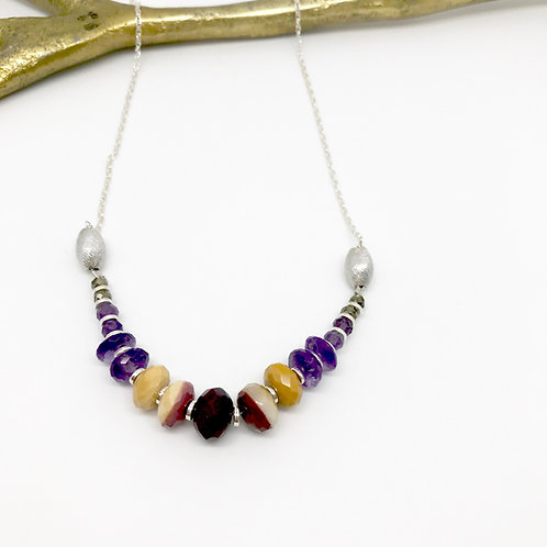 Heloise Amethyst Stacked Necklace