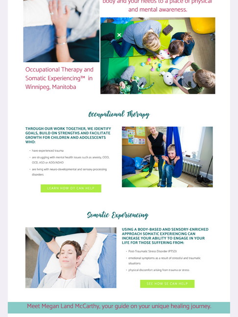 Emerge Therapy Services Squarespace Website