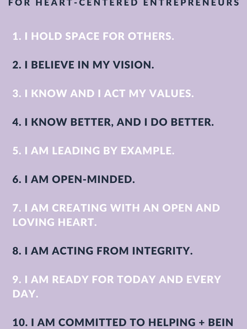 23 Heart-Centered Business Affirmations