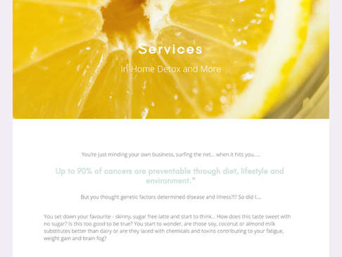 Purely Healthy Squarespace Website