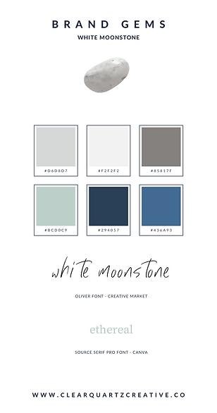 White Moonstone Brand Gem | Clear Quartz