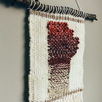 Rust and Cream Manitoba Woven Art - made by Rebecca Riel of Riel Finishings