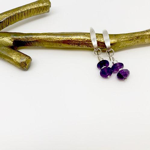 Heloise Amethyst Hook Earrings