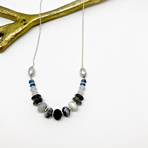 Heloise Labradorite Stacked Necklace
