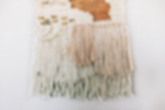 Fringed Earth Tone Woven Wall Art - made by Rebecca Riel of Riel Finishings