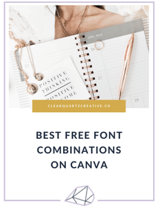 Best Free Font Combinations on Canva