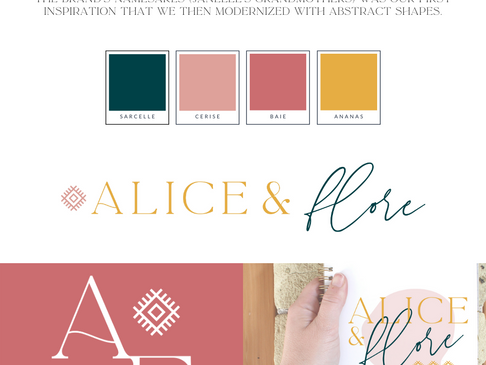 Alice & Flore Photography Branding Design