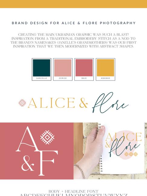 Alice & Flore Photography Branding Design