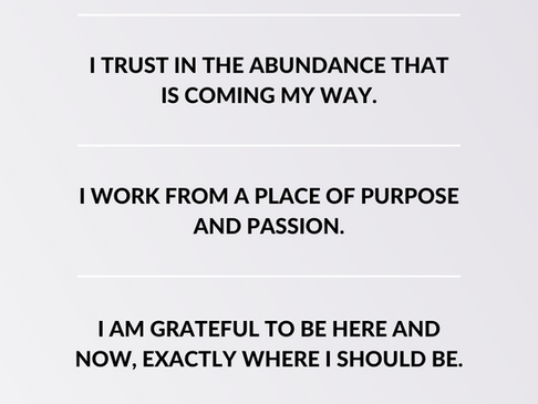 22 Abundance Affirmations for your Business