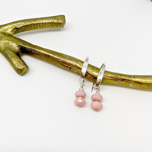 Heloise Pink Opal Hook Earrings