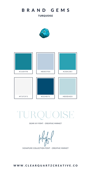 Turquoise Brand Gem | Clear Quartz Creat