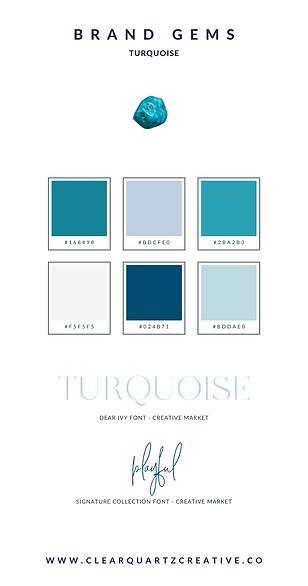Turquoise Brand Gem | Clear Quartz Creat