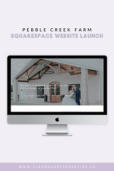 Wedding Venue Website on Squarespace | C