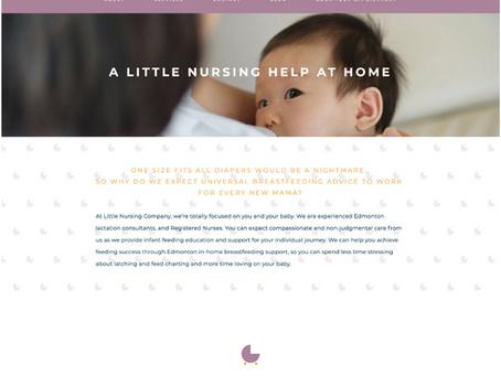 Little Nursing Co Squarespace Web Design