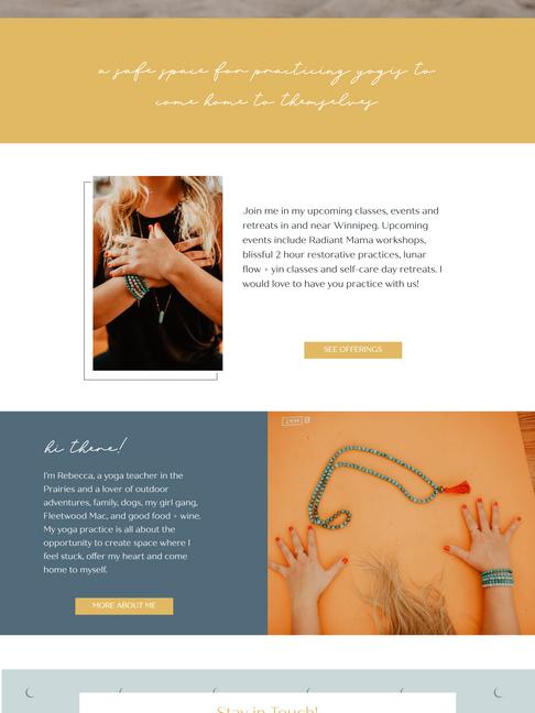 Rebecca Watson Yoga Wix Website