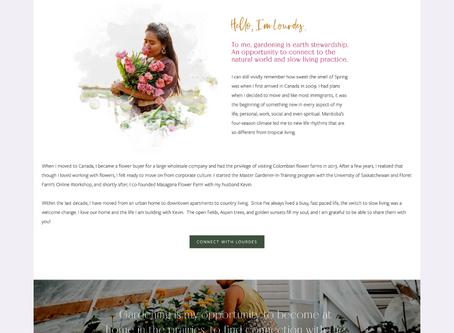 Masagana Flower Farm Squarespace Website