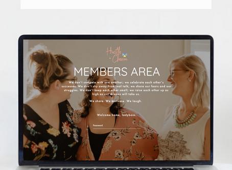 Hustle + Charm Squarespace Website