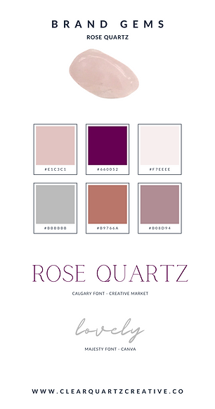 Rose Quartz Brand Gems | Clear Quartz Cr