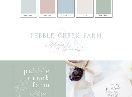 Pebble Creek Farm Visual Branding