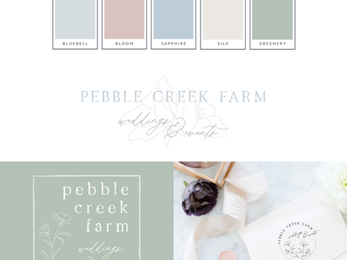 Pebble Creek Farm Visual Branding