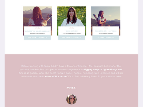 Tania J. Maven Squarespace Website