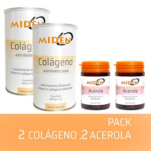 2 botes Colágeno y 2 de Acerola