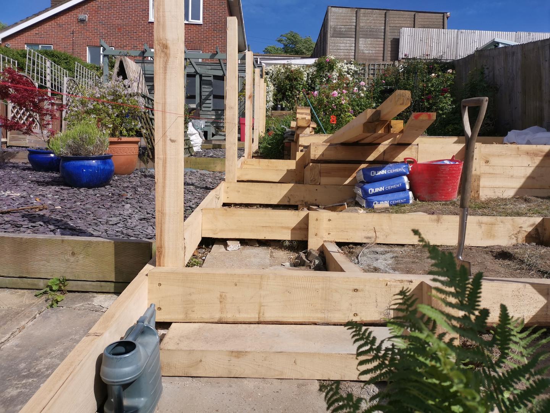 Steps & fence