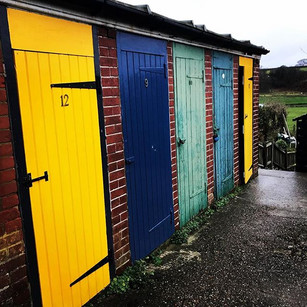 Spotted these vibrant doors and windows