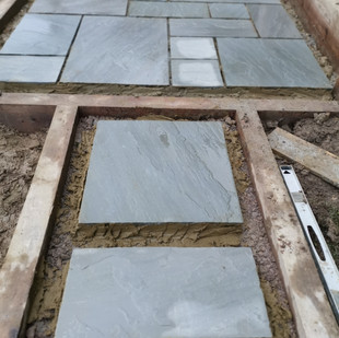 Path joining Patio