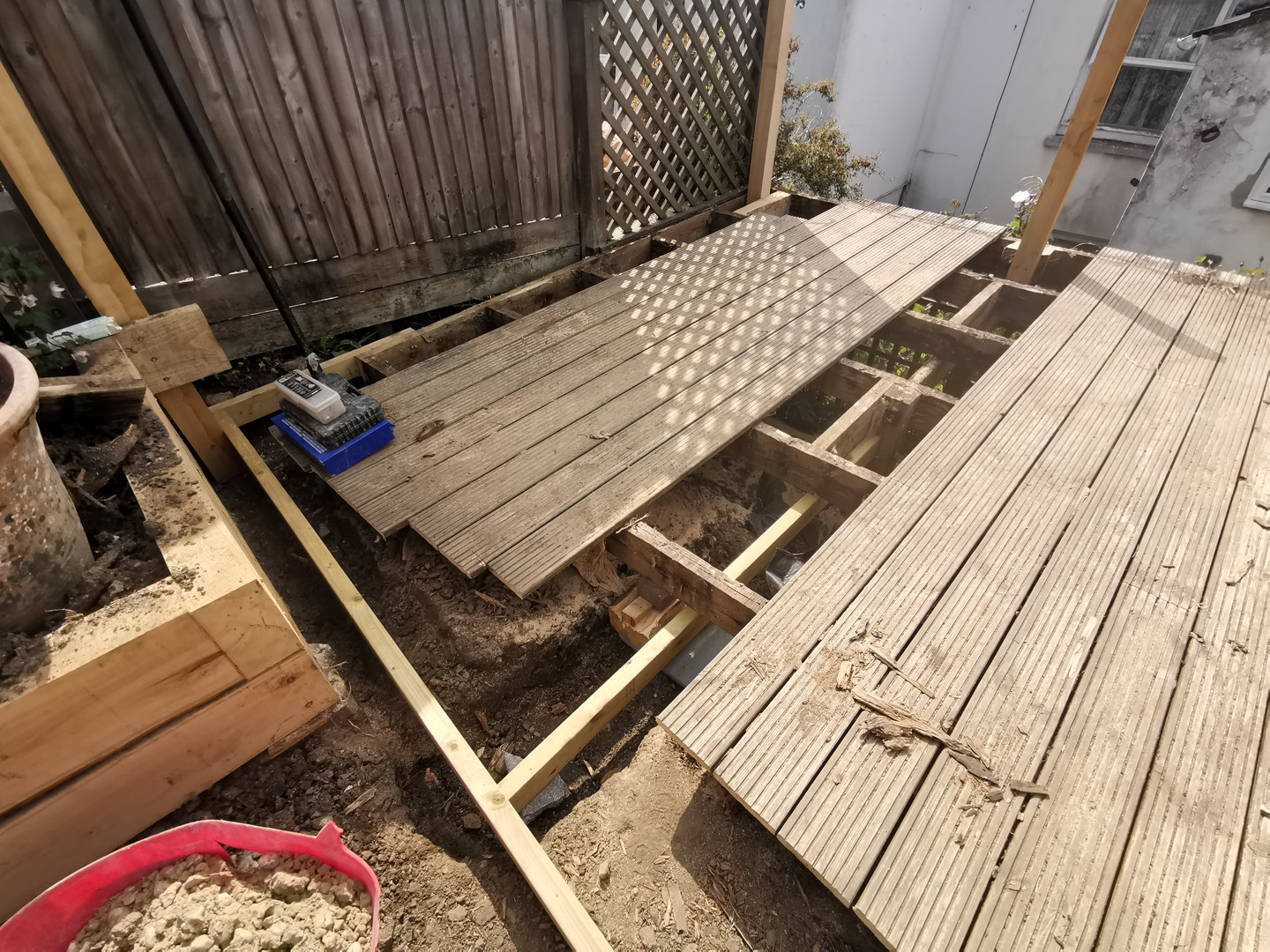 Decking being replaced