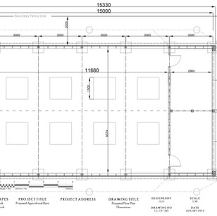 CL-CP-225 PROPOSED FLOOR PLAN DIMENSIONS