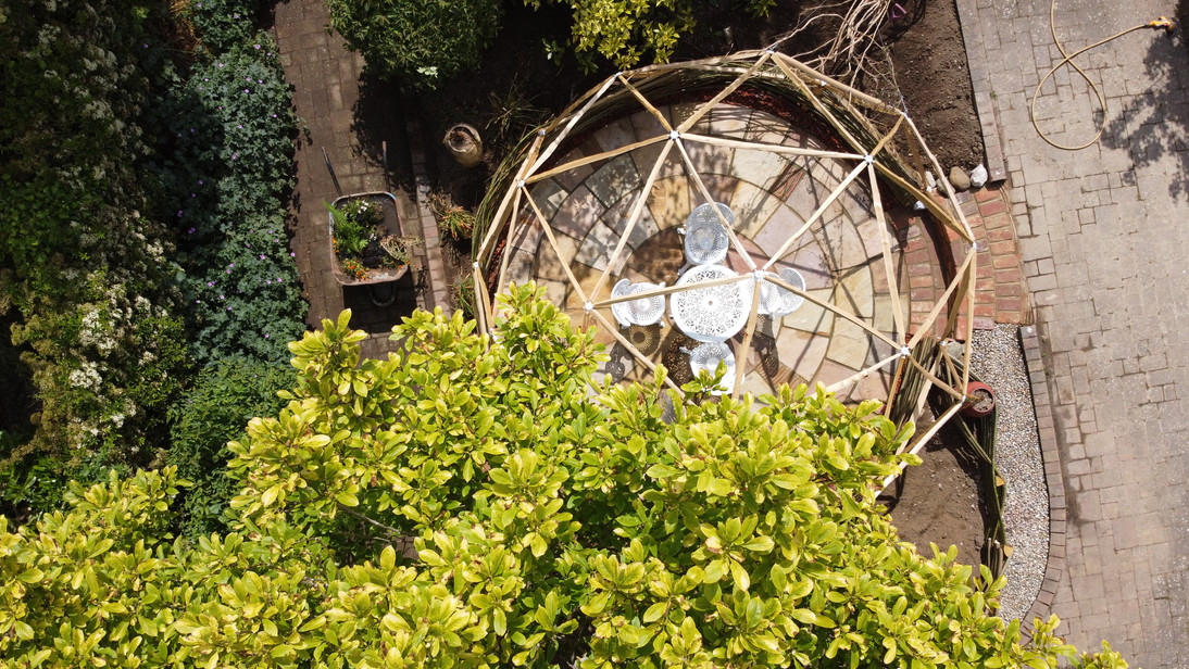 Geo Dome patio from above