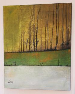Solstice d'hiver, toile 92 x 73 cm