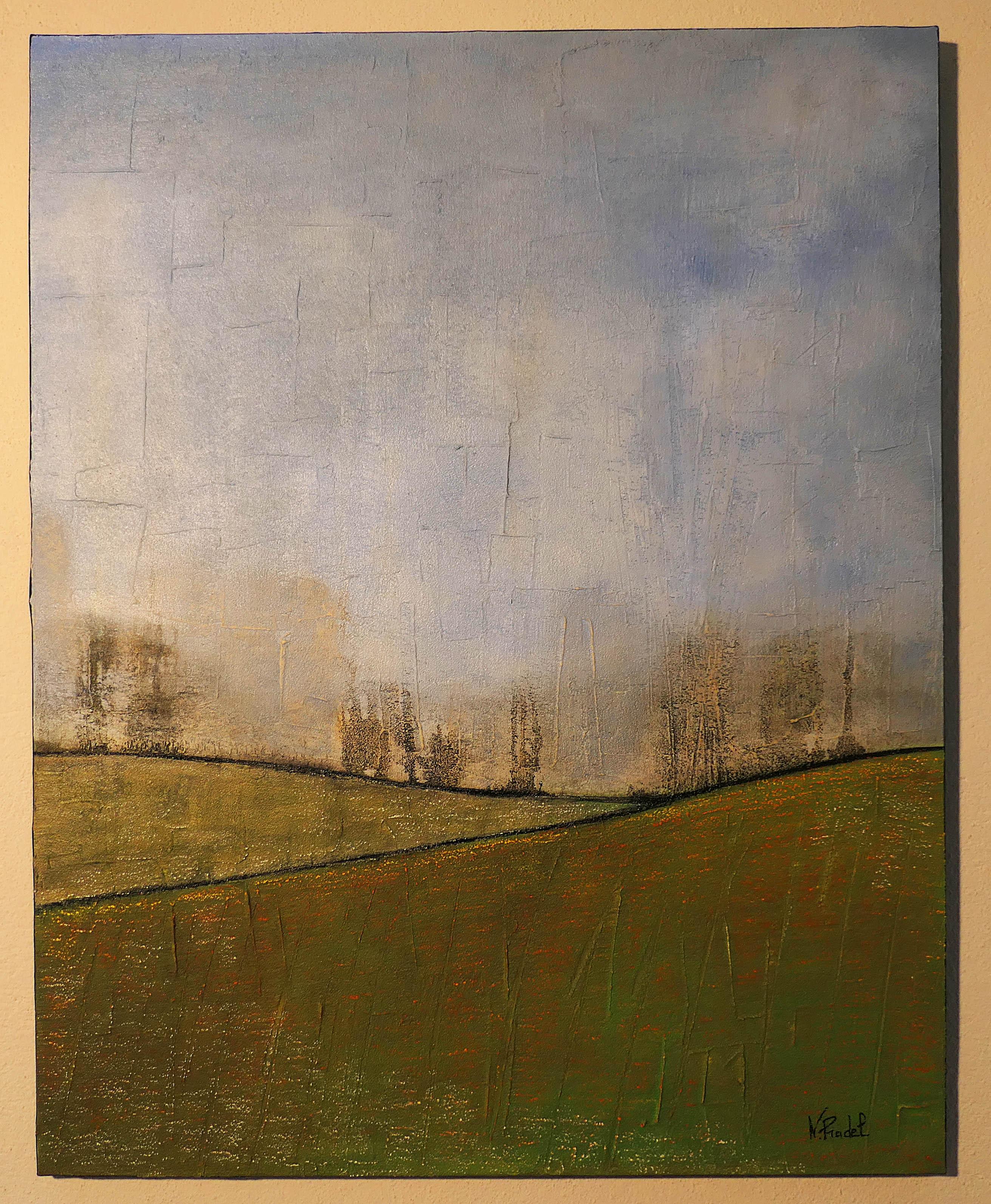 Les perce-neige, toile 92 x 73 cm