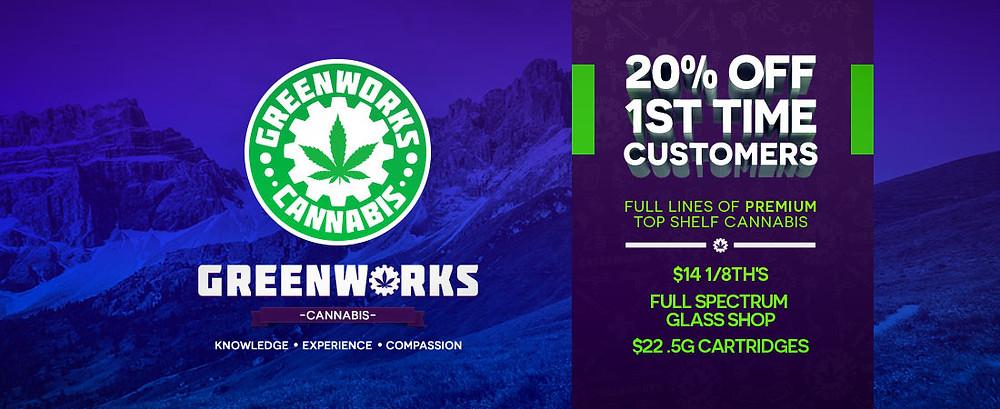 Greenworks 20% off banner Ad